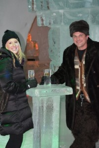 The coolest bar around at the Hotel du Glace in Quebec City